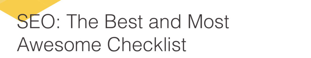 the best and most awesome checklist